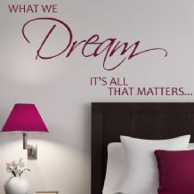 What We Dream It's All That Matters ~ Wall sticker / decals